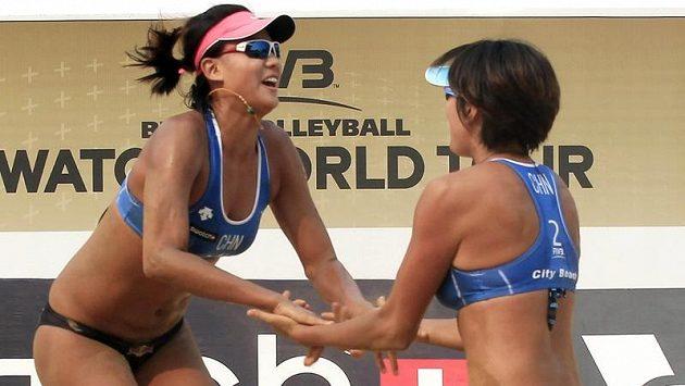 Číňanky Süe Čchen a Čang Si prohrály s Češkami 1:2 na sety.