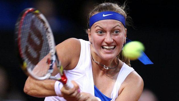 Petra Kvitová během zápasu s Němkou Kerberovou.
