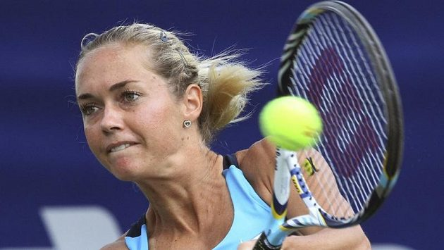 Česká tenistka Klára Zakopalová na turnaji v Soulu.