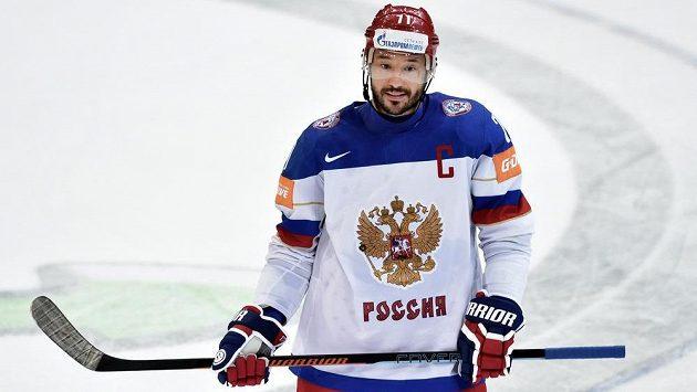 Útočník Ilja Kovalčuk v dresu Ruska.