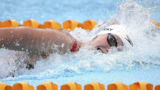 Katie Ledecká vylepšila vlastní rekord.