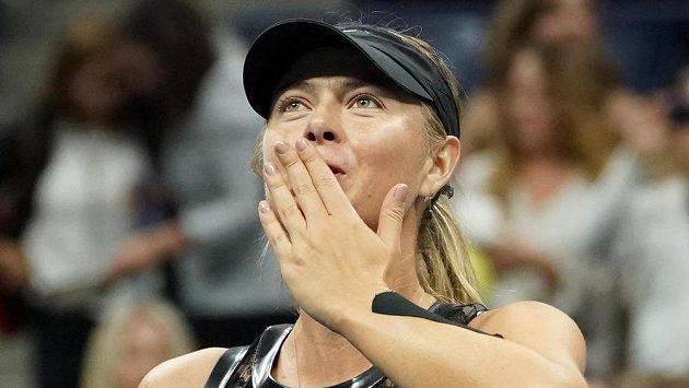 Ruská tenistka Maria Šarapovová po vítězství nad Američankou Sofií Keninovou na US Open.