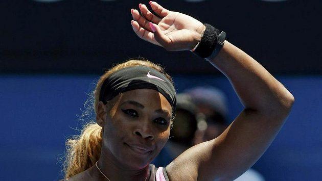 Serena Williamsová se raduje z postupu do třetího kola na Australian Open.