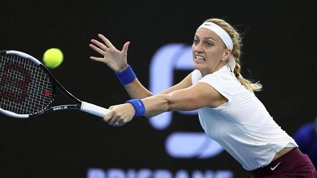 Petra Kvitová na turnaji v Brisbane.