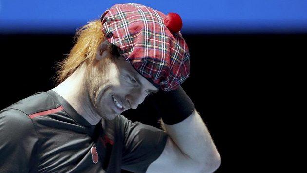 Andy Murray s tradiční skotskou pokrývkou hlavy.
