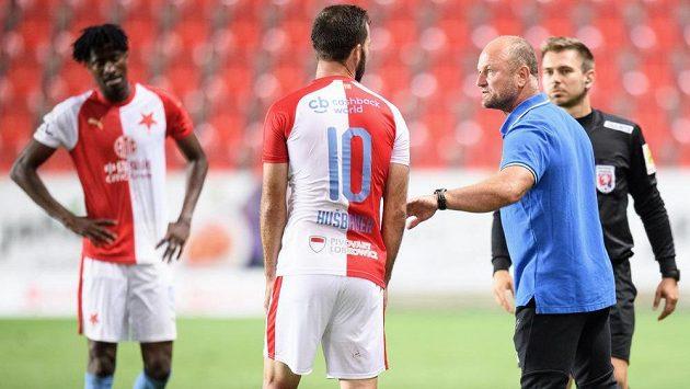Trenér Slovanu Liberec Pavel Hoftych a Josef Hušbauer