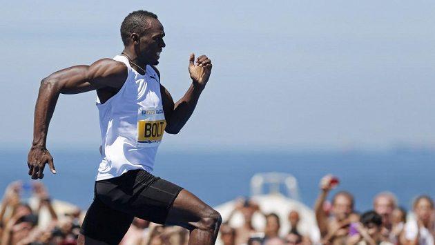 Jamajský sprinter Usain Bolt v Brazílii