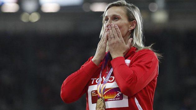 Oštěpařka Barbora Špotáková je opět mistryní světa.