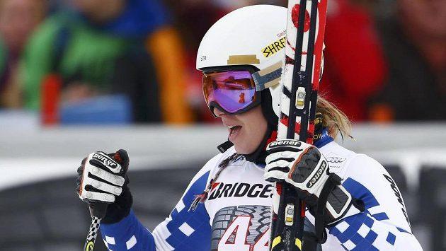 Ester Ledecká po super-G v německém Ga-Pa.
