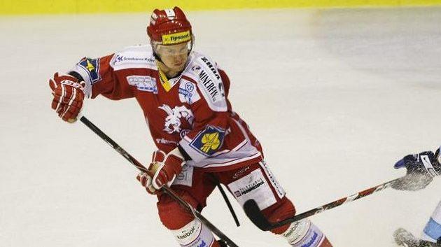 Třinecký hokejista Martin Adamský.