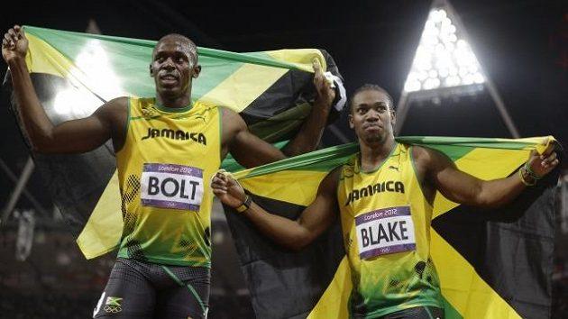 Jamajští sprinteři Usain Bolt (vlevo) a Yohan Blake se představí na Zlaté tretře.