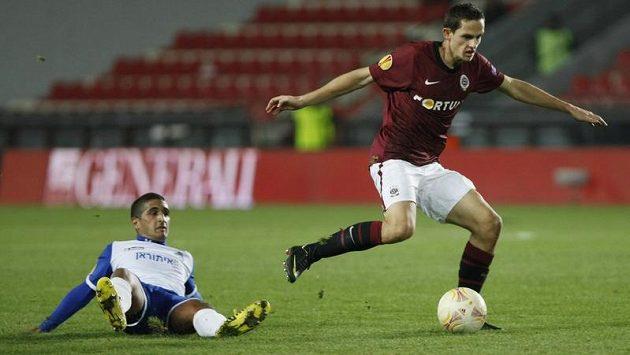 Mario Holek ještě v podzimním utkání Evropské ligy proti Šmoně.