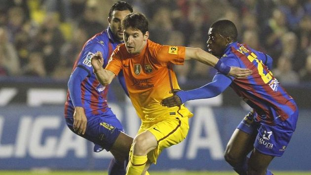 Lionel Messi byl v zápase na hřišti Levante opět k nezastavení.