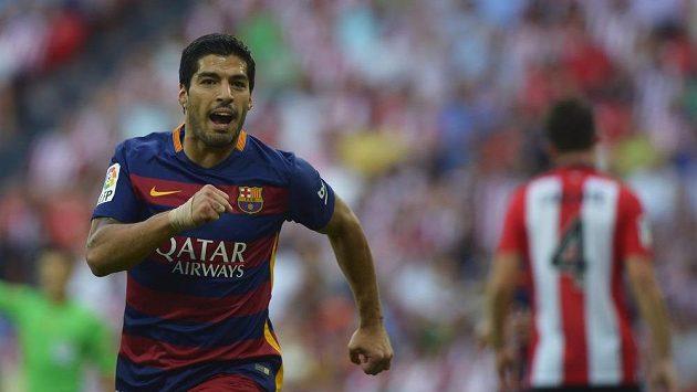 Luis Suárez, střelec vítězného gólu Barcelony v ligovém utkání proti Bilbau.