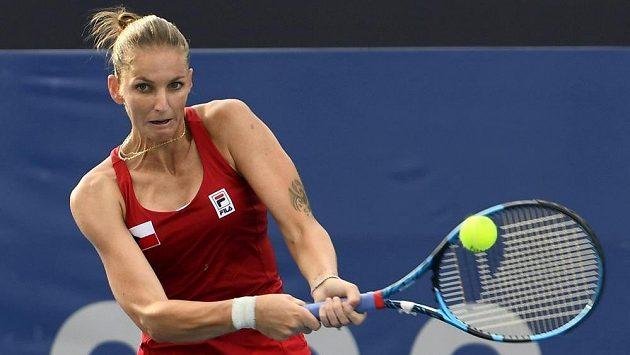 Tenistka Karolína Plíšková ve druhém kole olympijského turnaje.