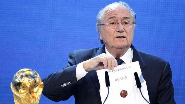 Prezident FIFA Sepp Blatter v roce 2010.