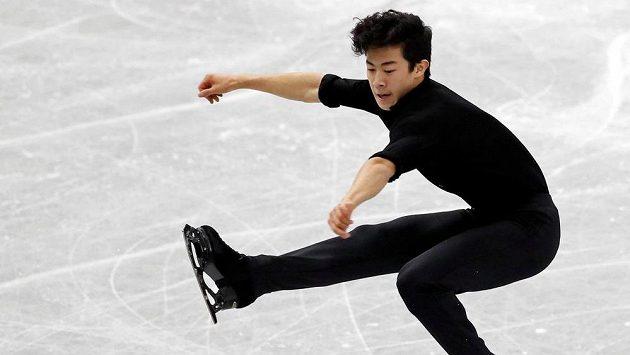 Američan Nathan Chen ve finále Grand Prix v Nagoji.