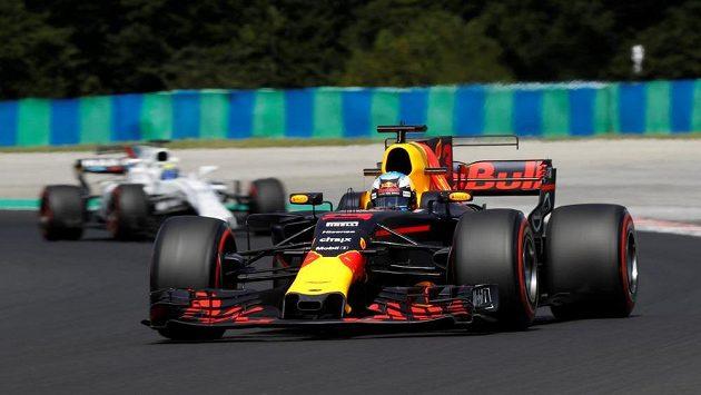 Daniel Ricciardo z Red Bullu při tréninku na Velkou cenu Maďarska.