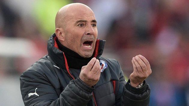 Jorge Sampaoli prožívá každý zápas svého mužstva velmi emotivně.