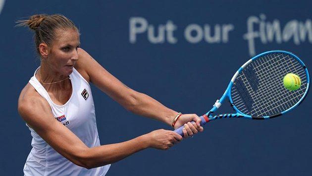 Karolína Plíšková při utkání s Číňankou Wang Ja-fan.