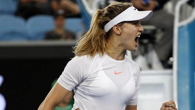 Eugenie Bouchardová ještě při Australian Open.