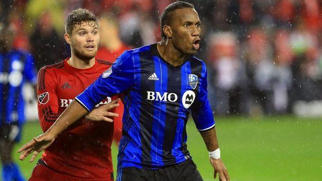 Didier Drogba (vpravo) v dresu Montrealu v utkání MLS proti Torontu.
