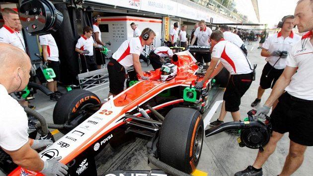 Max Chilton s vozem Marussia F1 během GP Itálie.