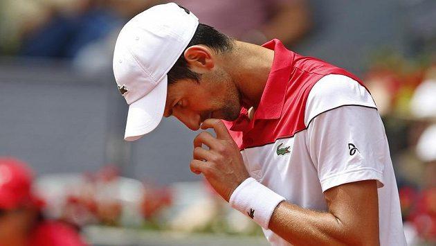 Novak Djokovič po prohře s Kylem Edmundem v Madridu.
