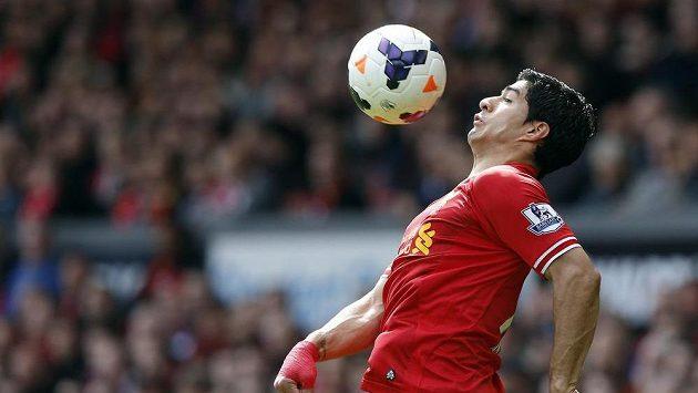 Uruguayský útočník Liverpoolu Luis Suárez.