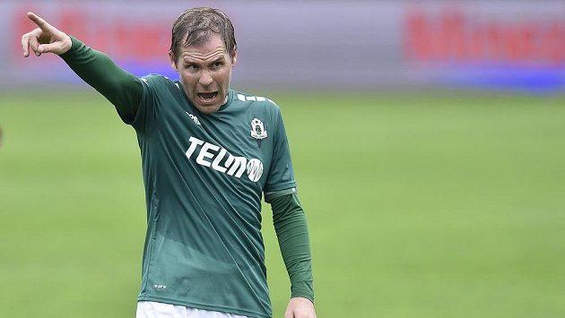 Tomáš Hübschman z Jablonce během derby s Libercem.