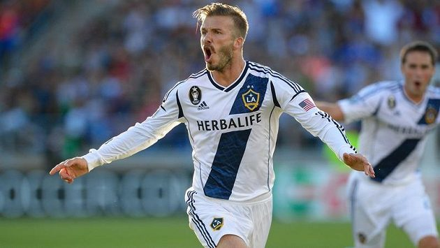 David Beckham v dresu LA Galaxy.