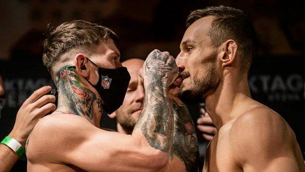 Robert Pukač (vlevo) a Jozef Wittner. Kdo vyhraje v Brně zápas MMA?