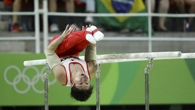 Olympijský vítěz v gymnastickém víceboji Kohei Učimura z Japonska.