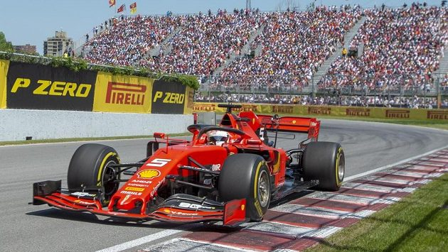Sebastian Vettel při Velké ceně Kanady.