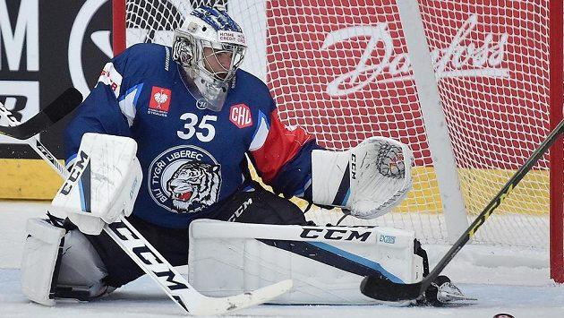 Liberecký brankář Roman Will.