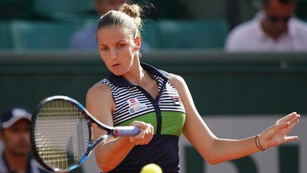 Karolína Plíšková v osmifinále French Open.