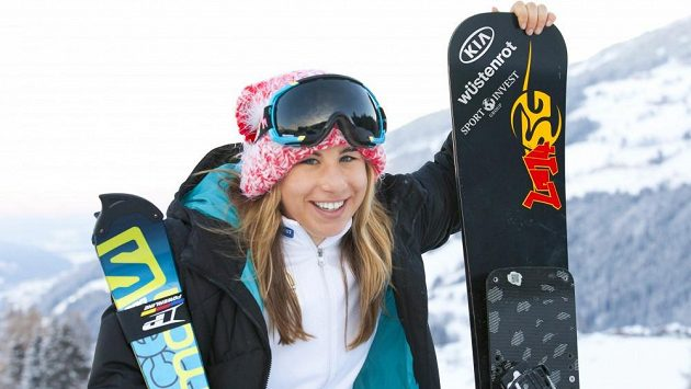 Snowboardistka Ester Ledecká.