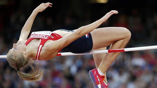 Výškařka Michaela Hrubá při finále MS v Londýně.