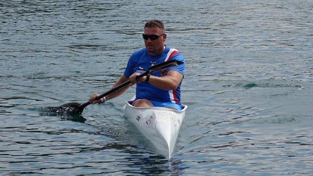 Milan Bartoš při mistrovství světa v Miláně.