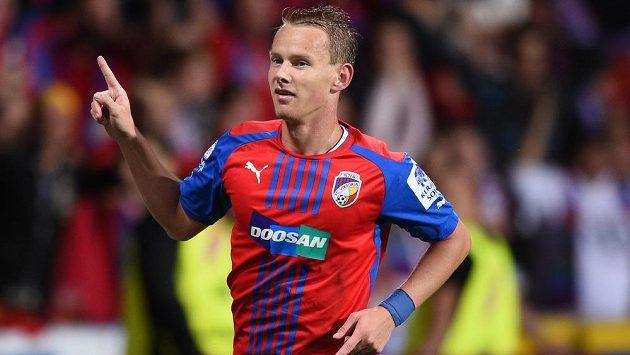 Radost Jana Chramosty z druhého gólu do hradecké sítě.