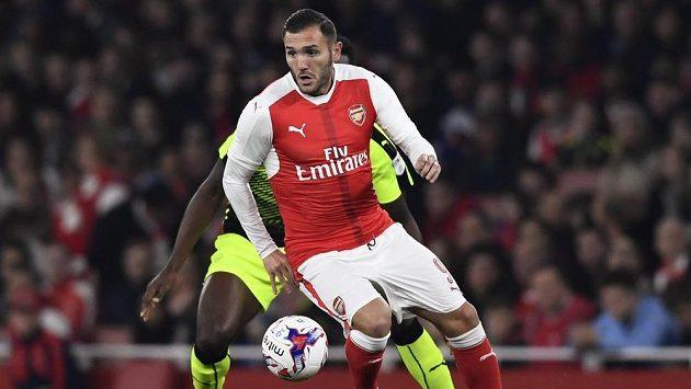 Lucas Pérez z Arsenalu.