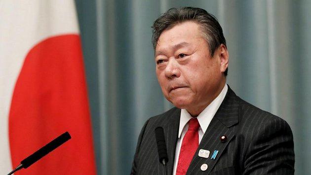 Japonský ministr pro olympijské hry v Tokiu 2020 Jošitaka Sakurada.