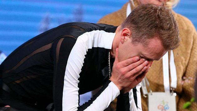 Zklamaný Michal Březina po pokažené volné jízdě na ME.