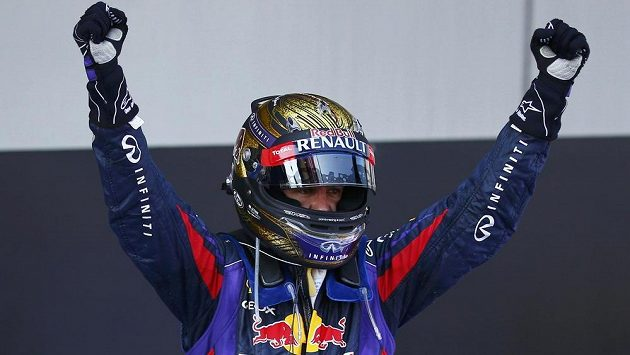 Radost Sebastiana Vettela ze stáje Red Bull. Od příštího roku pojede pilot rakouské stáje i Velkou cenu Rakouska.