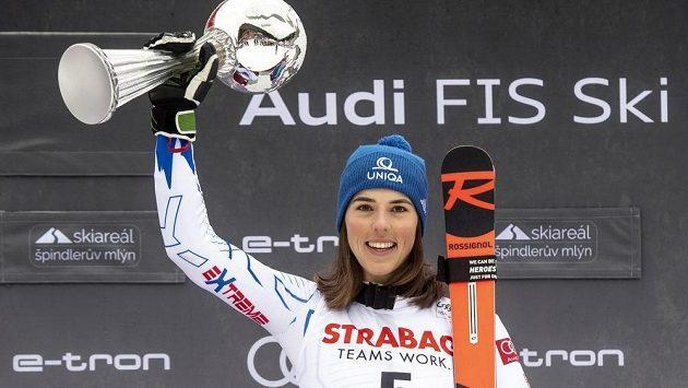 Vítězka Petra Vlhová ze Slovenska.