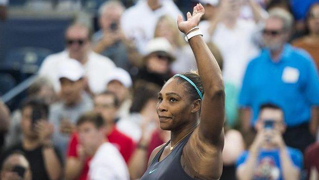 Serena Williamsová po vítězství nad Češkou Marií Bouzkovou.
