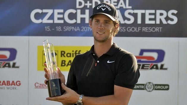 Vítěz turnaje Czech Masters Thomas Pieters z Belgie.