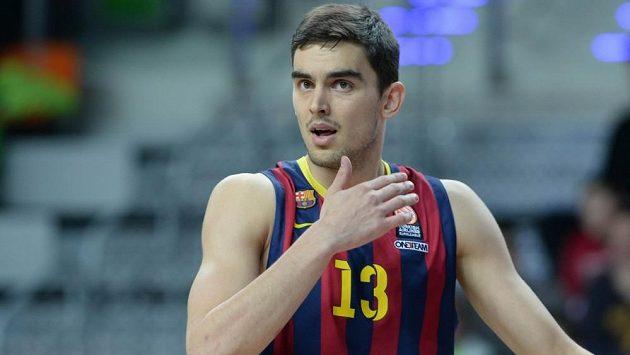 Basketbalista Tomáš Satoranský v dresu Barcelony.