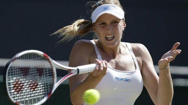 Nicole Vaidišová na Wimbledonu v roce 2008, kdy došla do čtvrtfinále.