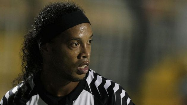 Hvězda Ronaldinho v dresu Flamenga.